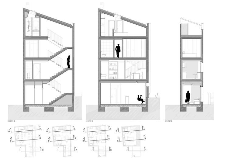 Vivienda unifamiliar y local comercial: Casas de estilo ecléctico de ADDEC arquitectos
