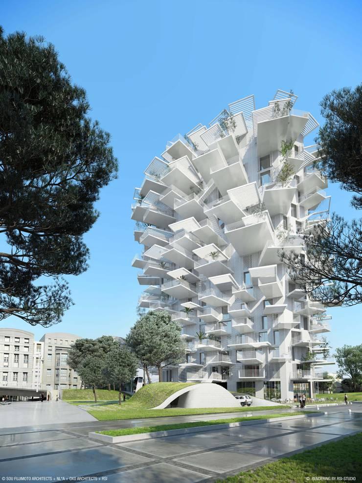 L'Arbre Blanc: Centre d'expositions de style  par Nicolas Laisné Associés