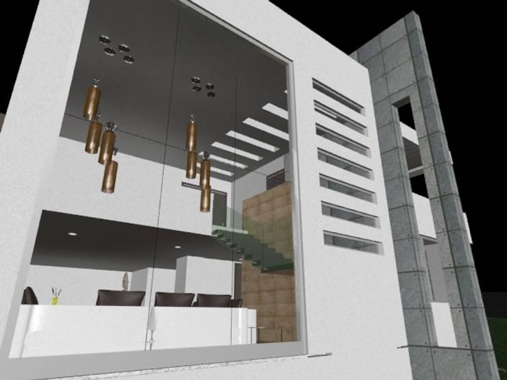 casa Espiritu Santo: Salas de estilo  por CESAR MONCADA S