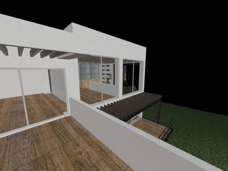 casa Espiritu Santo: Terrazas de estilo  por CESAR MONCADA S