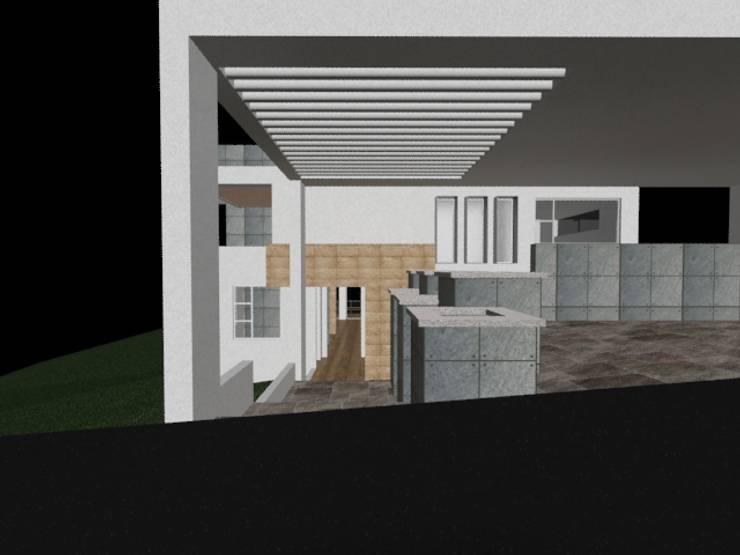 casa Espiritu Santo: Garajes de estilo  por CESAR MONCADA S