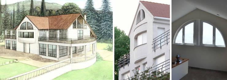 Vivienda unifamiliar con jardín: Casas de estilo  de jjdelgado arquitectura