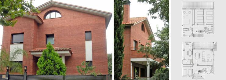 Vivienda unifamiliar aislada con jardín: Casas de estilo  de jjdelgado arquitectura