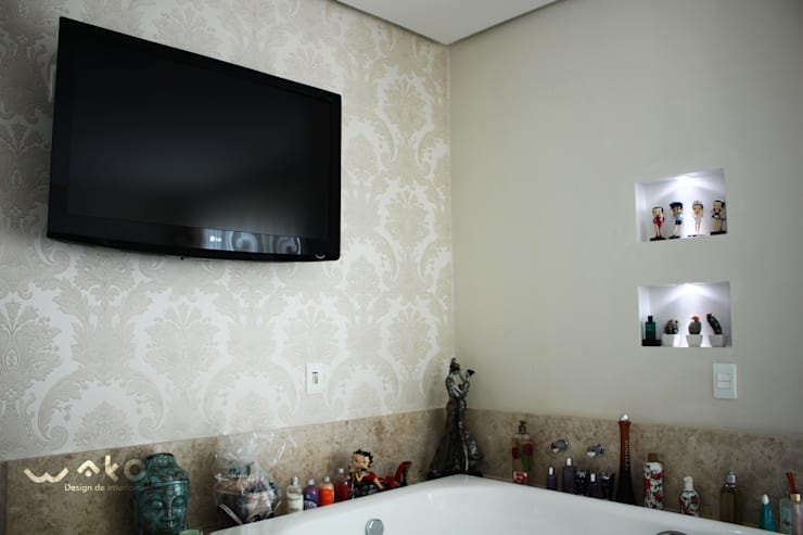 Quarto do Casal: Quartos  por WAKO Design de Interiores