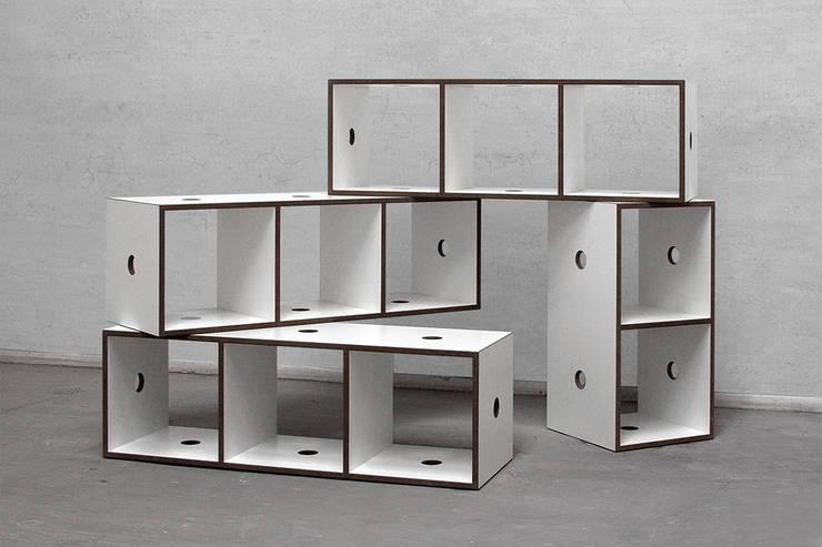 clipbox Kombination Boden: minimalistische Wohnzimmer von designobjectsound