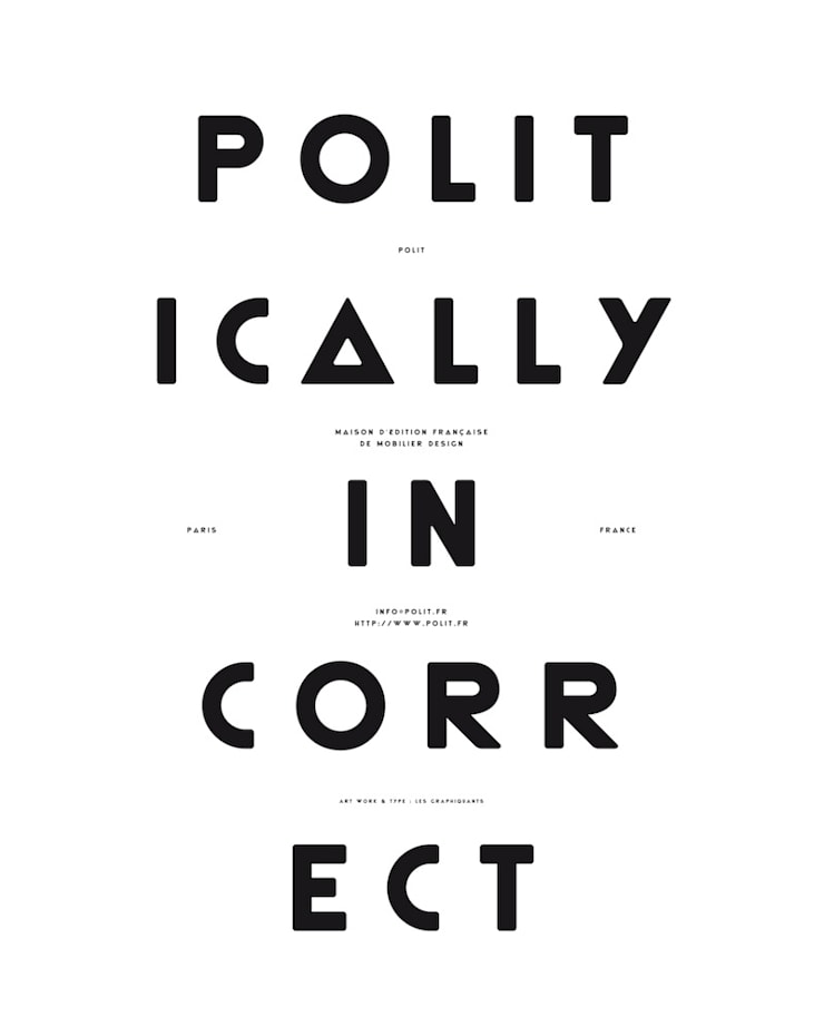 """MOODPAPER """"POLITICALLY INCORRECT"""": Murs & Sols de style  par Polit"""