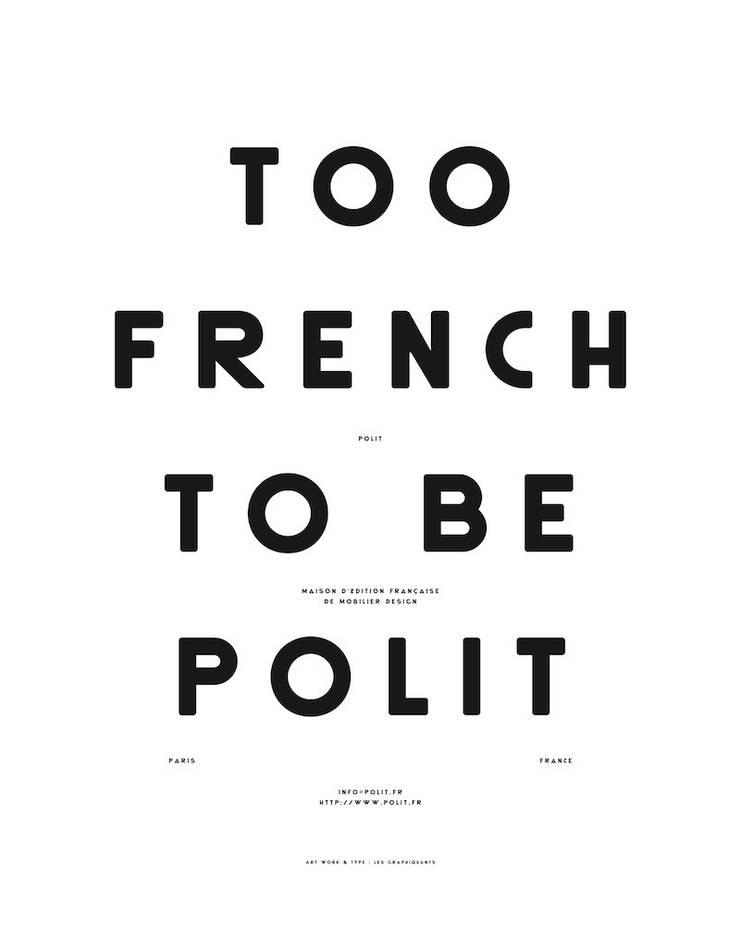 """MOODPAPER """"TOO FRENCH TO BE POLIT"""": Murs & Sols de style de style Scandinave par Polit"""