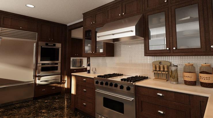 Cucina: Cucina in stile  di Studio di Programmazione e Rendering Ponzanelli