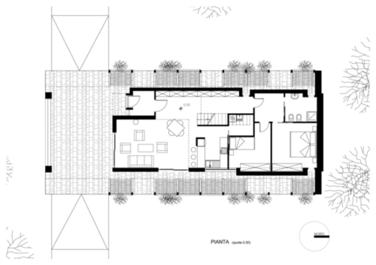 baracca: Casa in stile  di alfredo anfossi architetto