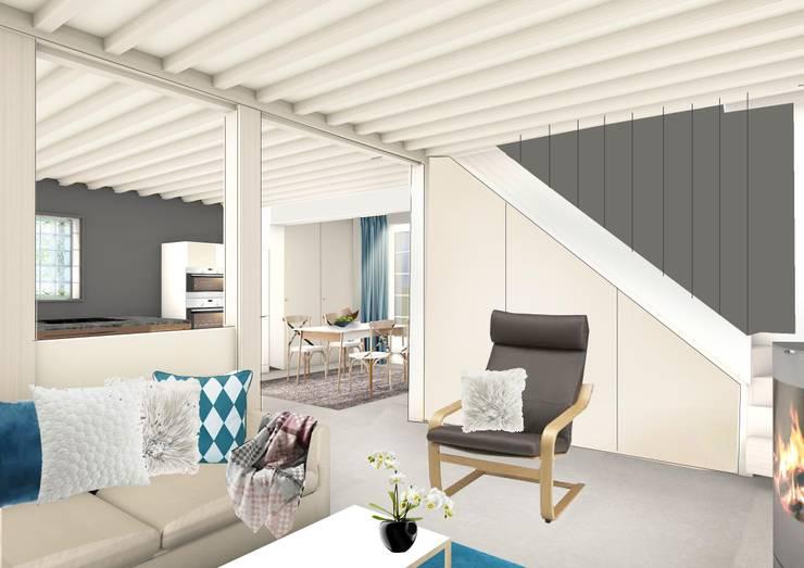 Moduler les volumes d'une maison normande: Maisons de style  par Camille&Tifany