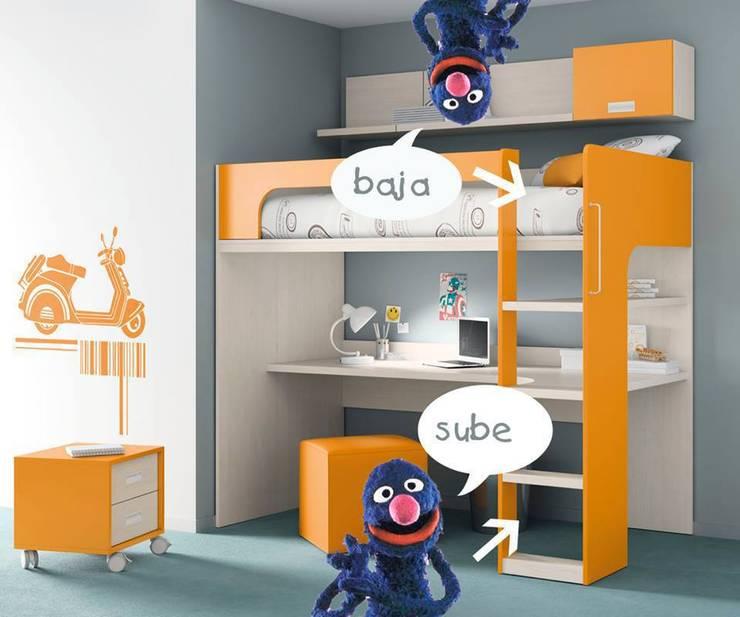 DORMITORIO JUVENIL: Habitaciones infantiles de estilo  de Muebles Carlos Pastor