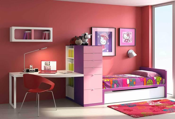 DORMITORIO INFANTIL-JUVENIL: Habitaciones infantiles de estilo  de Muebles Carlos Pastor