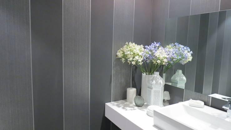 T801 01: Baños de estilo  por NIVEL TRES ARQUITECTURA
