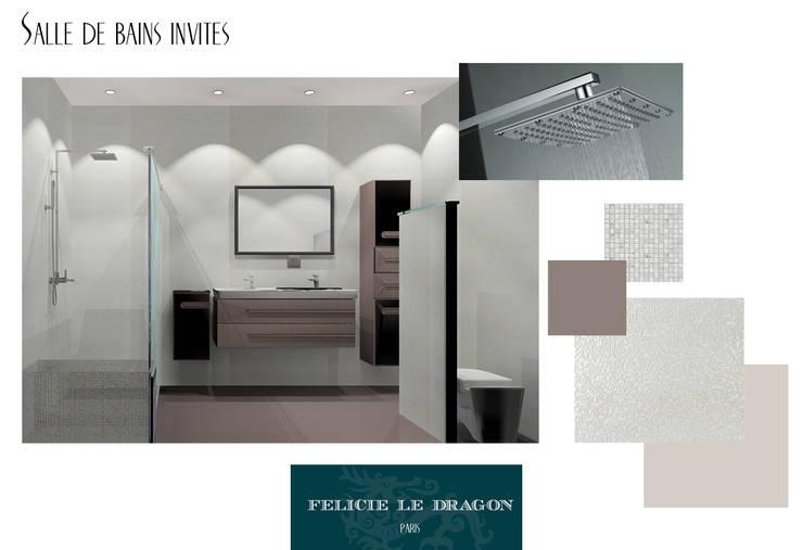 Luxury Bathroom: Salle de bains de style  par Félicie le Dragon