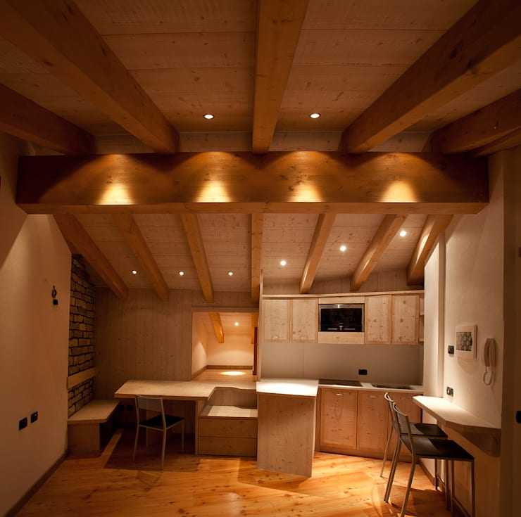 A mono: Case in stile  di BEARprogetti - Architetto Enrico Bellotti