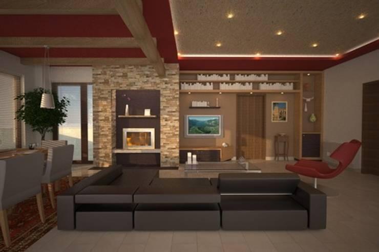 soggiorno #2: Soggiorno in stile  di alfredo anfossi architetto