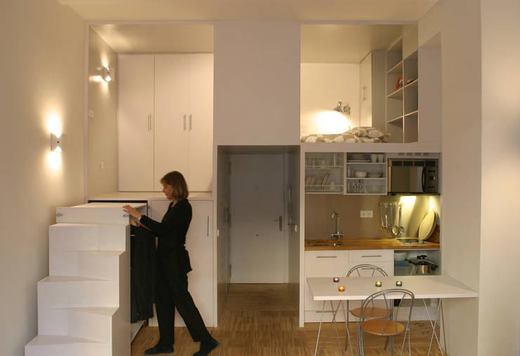 Loft DUQUE DE ALBA. Madrid: Cocinas de estilo  de Beriot, Bernardini arquitectos