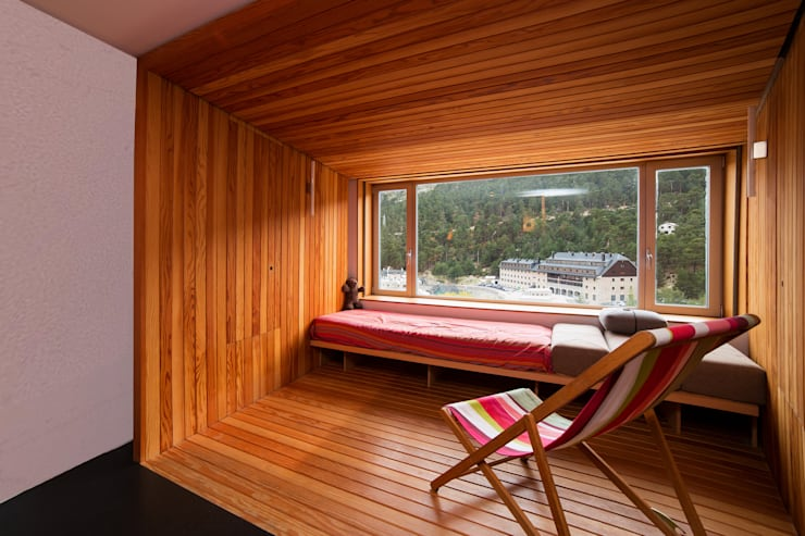 Refugio PUERTO DE NAVACERRADA. Madrid Casas minimalistas de Beriot, Bernardini arquitectos Minimalista