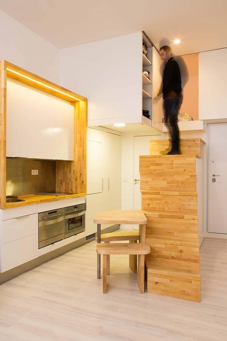 Loft ZURITA. Madrid: Cocinas de estilo  de Beriot, Bernardini arquitectos
