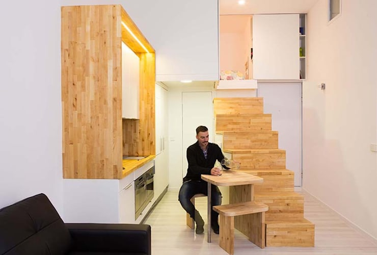 Loft ZURITA. Madrid: Comedores de estilo  de Beriot, Bernardini arquitectos