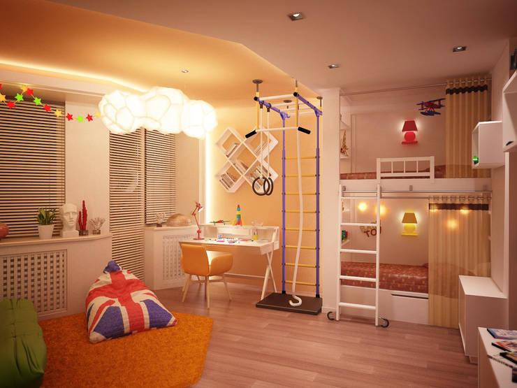 Chambre d'enfants 02: Chambre de style de style Méditerranéen par Amber Design