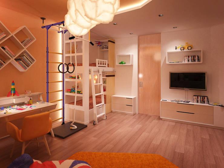 Chambre d'enfants 01: Chambre de style de style Méditerranéen par Amber Design