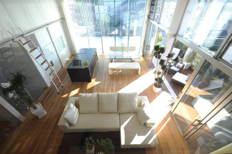 Projekty,  Salon zaprojektowane przez TERAJIMA ARCHITECTS