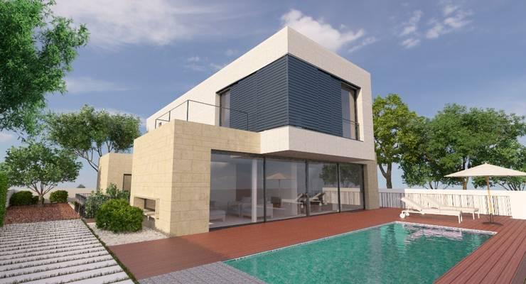 Projekty,  Domy zaprojektowane przez NUÑO ARQUITECTURA