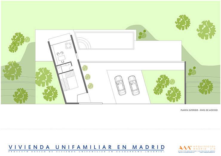 proyecto de casa unifamiliar en madrid: Casas de estilo  de Arquitectos Madrid 2.0
