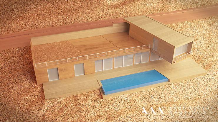 Maqueta del proyecto de una vivienda en Madrid: Casas de estilo  de Arquitectos Madrid 2.0