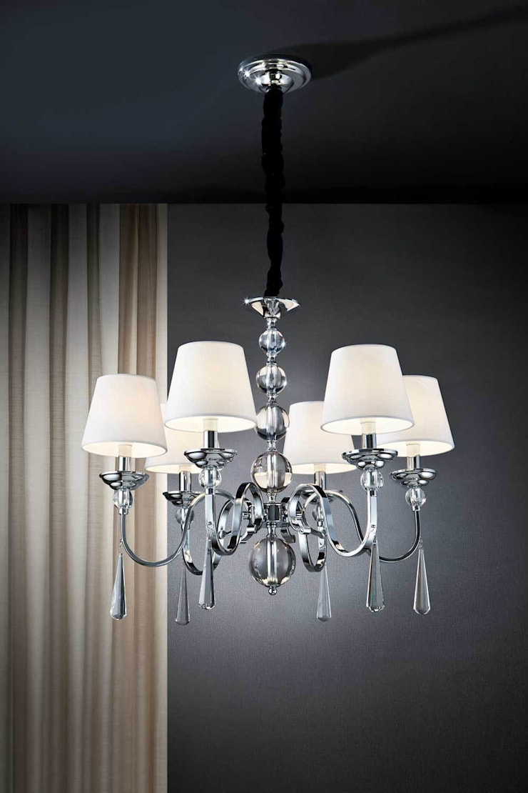 LAMPARA TECHO  6L: Salones de estilo  de Muebles Carlos Pastor
