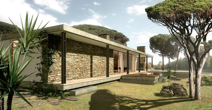 CASA LES PLANES:  de estilo  de Jofre Roca arquitectes