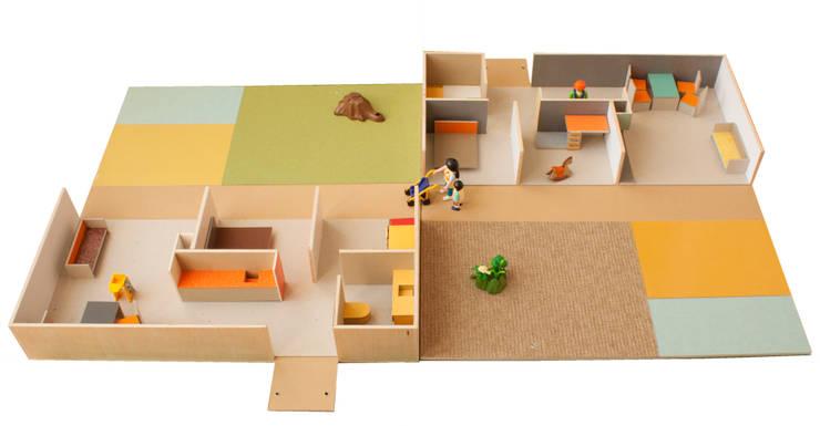 casa mini: Dormitorios infantiles de estilo  de PARRAMON + TAHULL arquitectes