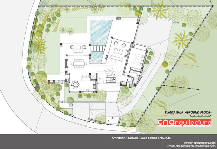 Diaphanous House -Planta Baja-: Casas de estilo  de CN ARQUITECTURA