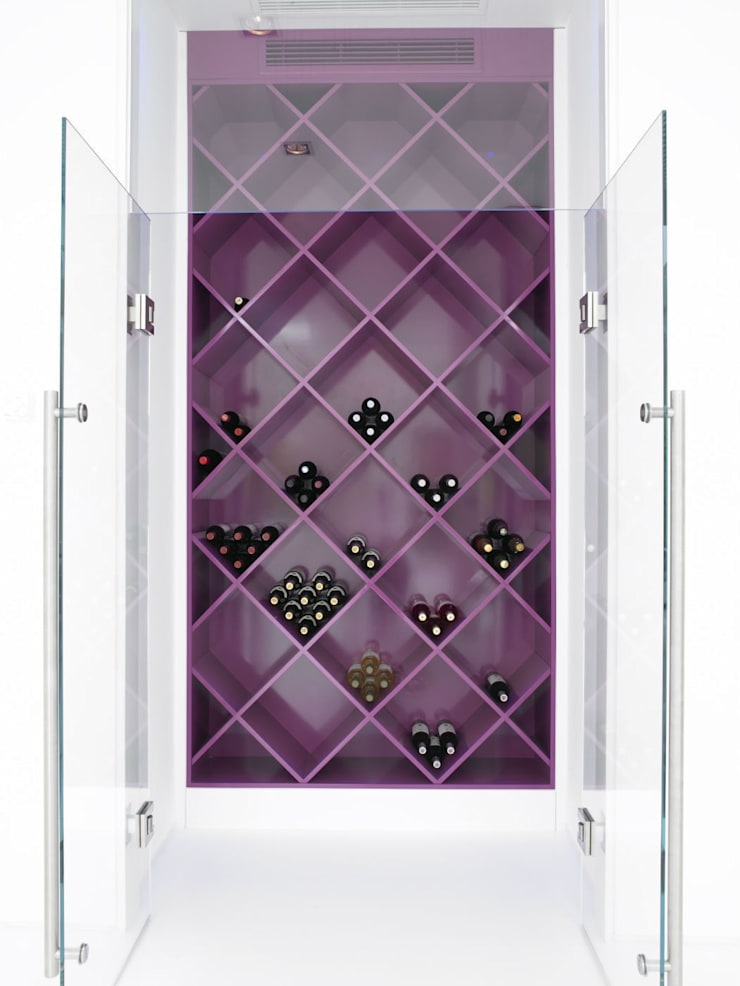 Ice White House-Luxury home:  Wine cellar by Quirke McNamara