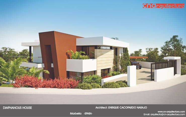 Diaphonous House: Casas de estilo  de CN ARQUITECTURA