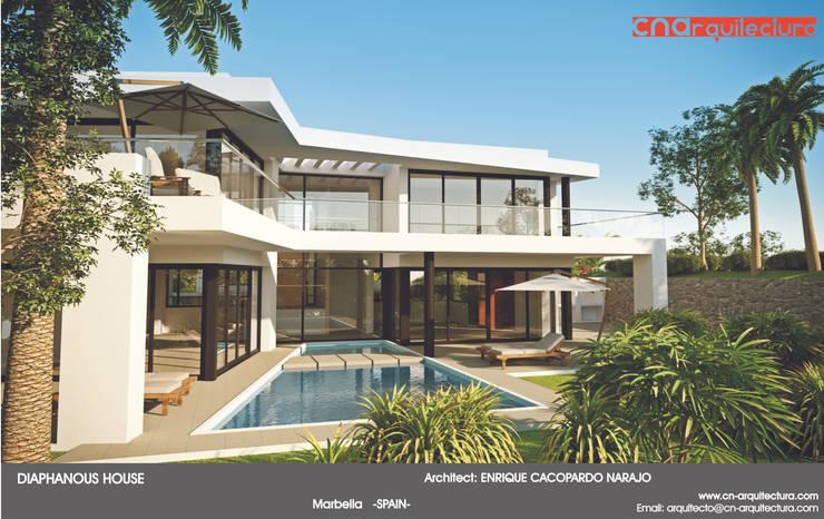 Diaphaous House: Casas de estilo  de CN ARQUITECTURA