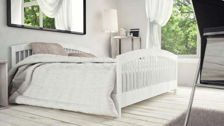 View_01_Bed: Camera da letto in stile  di V Multimedia