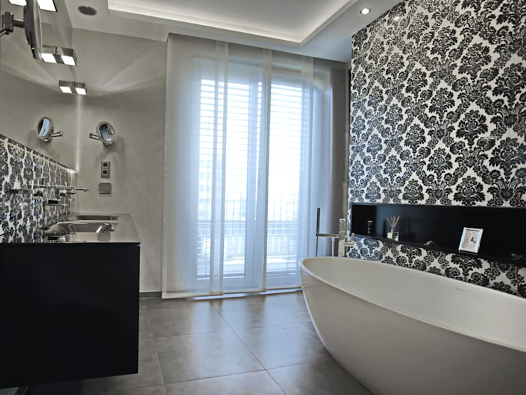 modern Bathroom by UTH living stone GmbH