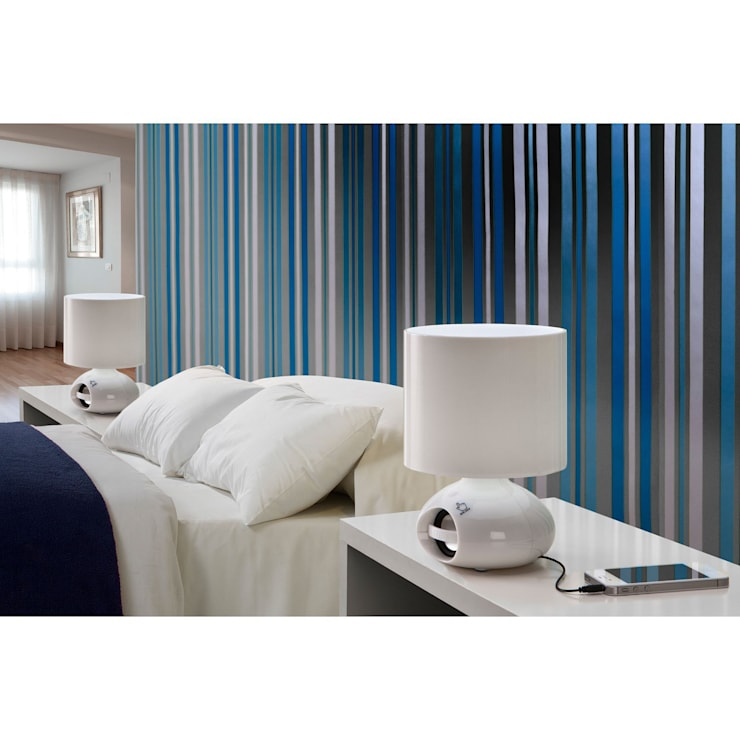 Lámpara de mesa Bob: Dormitorios de estilo  de Ociohogar