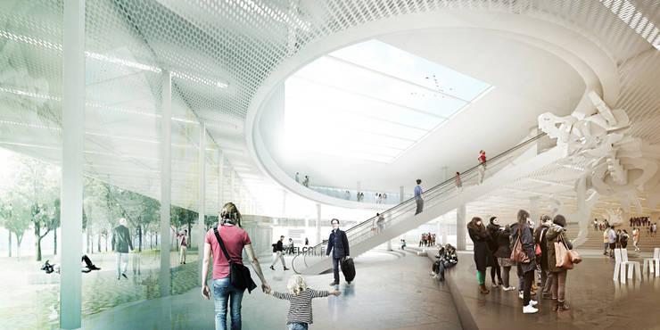 View from the hall: Musées de style  par NAS Architecture