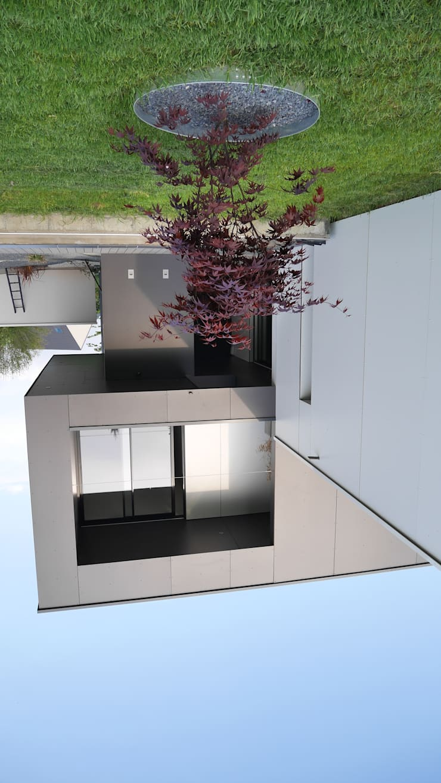 maison noire et blanche: Maisons de style de style Moderne par ad architecture