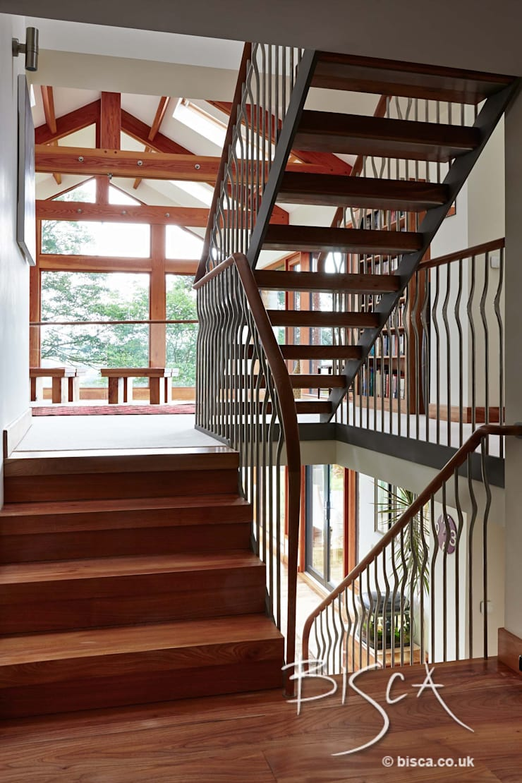 Elm Staircase ref 3601:  Corridor, hallway & stairs by Bisca Staircases