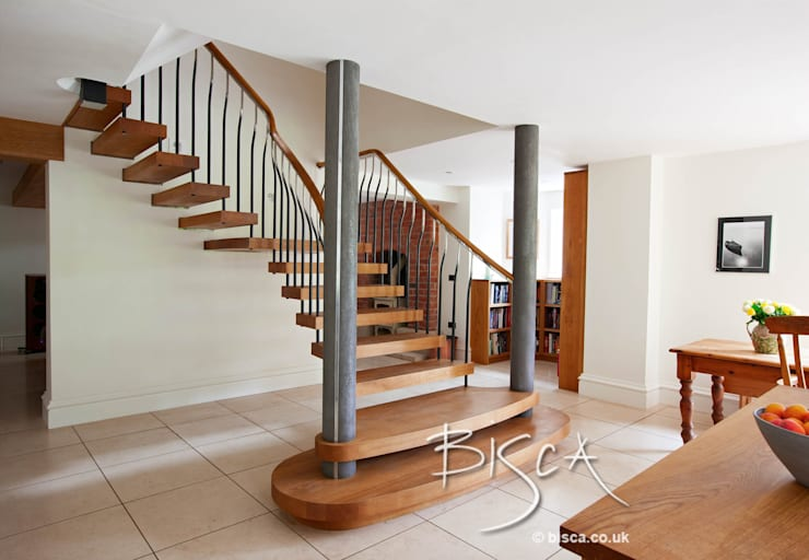 Victorian Basement Staircase ref 3340:  Corridor, hallway & stairs by Bisca Staircases
