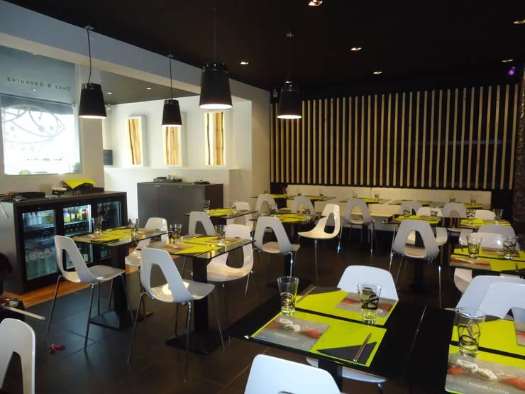 restaurant COTE SUSHI: Locaux commerciaux & Magasins de style  par ma-interieur