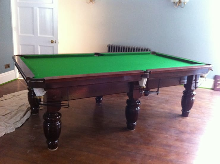 8ft Mahogany Standfast snooker table:  Household by John Bennett (Billiards) Ltd