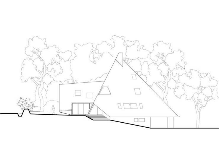 élévation Est: Maisons de style  par Jean-Charles CASTRIC - architecte D.P.L.G.