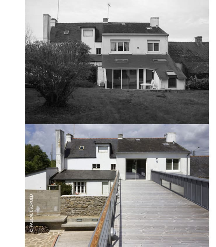 avant / après: Maisons de style  par Jean-Charles CASTRIC - architecte D.P.L.G.