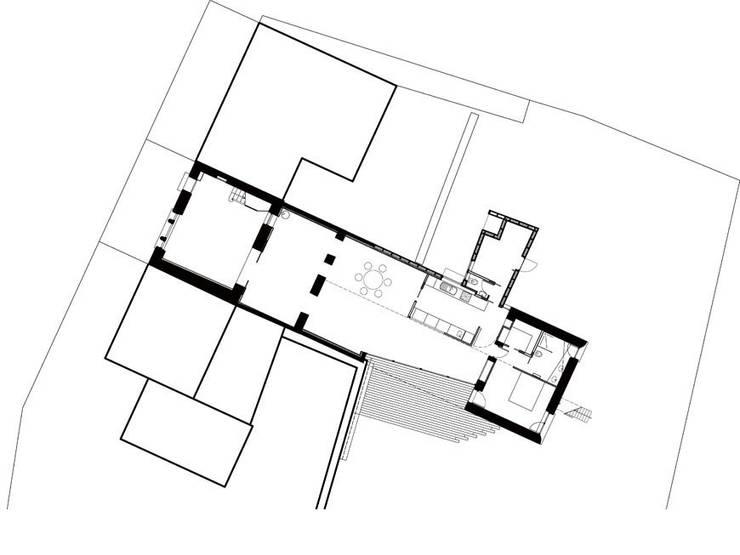 plan du rez-de-chaussée: Maisons de style  par Jean-Charles CASTRIC - architecte D.P.L.G.