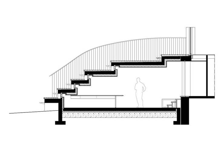 coupe: Maisons de style  par Jean-Charles CASTRIC - architecte D.P.L.G.